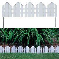 6-1/4 in. White Garden Fence Patio Border Edging Resin Adirondack Style 12-Pack