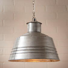 Irvins Tinware Canning Table Pendant Light in Brushed Tin FREE SHIP