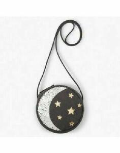 Gymboree Girl's Glitter Moon & Stars Purse Shoulder Bag NEW Gray