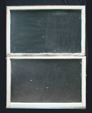 """Pair 44""""x29"""" Antique Vintage Double Hung Wood Wooden Sash Window Textured Glass"""