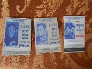 BUFFALO BILLS MATCHBOOK replica SKEDS 1965 1967 RON MCDOLE TOM SESTAK BILLY SHAW