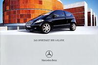 Prospekt 2005 Mercedes A Klasse Sportpaket W 169 Autoprospekt 7 05 brochure Auto