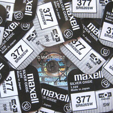 2 x Genuine Maxell SR626SW 377 AG4 Watch Batteries Silver Oxide UK Freepost