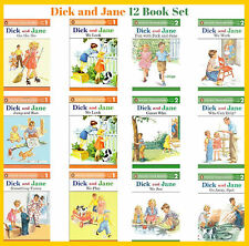 Dick and Jane Readers Series Level 1 & 2 Collection Set 1-12 Ages 3-7 BRAND NEW
