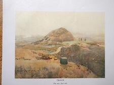 Golf Course Print TROON Facsimile Of Original 1910 Painting Scotland