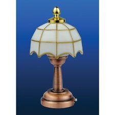 Maison de poupées miniatures échelle 1/12 tiffany lampe de table led aucun câblage nécessaire DE311
