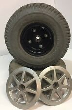 PRIDE JAZZY POWER CHAIR PR1MO DUROTRAP 3.00-4 WHEELS TIRES & HUBCAPS