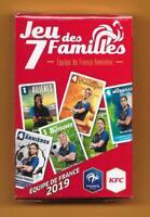 Jeu des 7 familles - Equipe de France Féminine- Publicité KFC - 35 cartes - 2019