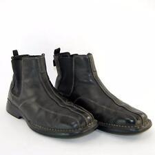 Skechers Men Black Leather Ankle Chelsea Boots  60643 US Shoe Size 9.5