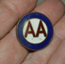 Vintage American Airlines Steward Round Metal Enamel AA Logo Lapel Pin RARE