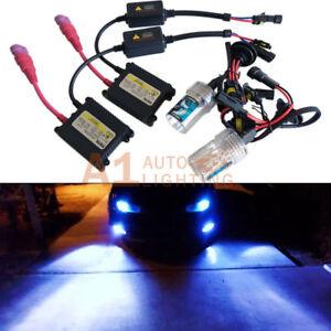 H3 10000K Deep Blue 35W Digital HID Upgrade Kit Fog Light DC Slim Ballasts A1