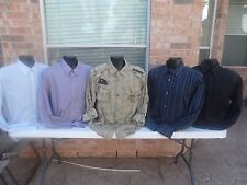 Lot of 5 long sleeve Dress Shirts, All Known Brands!, All XL Size.Lot # 39