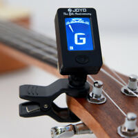 For Bass Ukelele Acoustic Guitar LCD Digital Electronic Clip on Tuner Adjustable