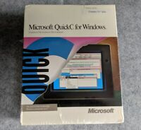 NEW Microsoft QuickC for Windows IBM PC MS-DOS computer C programming software