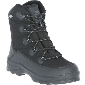 Trespass Mens Zotos Fleece Lined Warm Winter Walking Snow Boots - Black