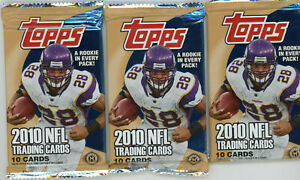 3x LOT Unopened 2010 Topps HOBBY Football Pack Gronkowski/Tebow Rookie Auto