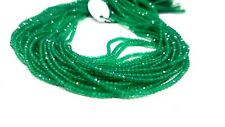 Natural Green Onyx Rondelle Faceted 2 To 3 MM 13 Inch Long Gemstone Beads