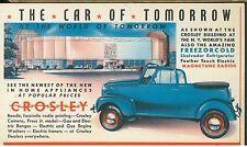 1939 Color Postcard New York World's Fair Crosley Radios + Car of Tomorrow