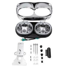 LED Headlight Dual Projector Daymaker Lamp for Harley Road Glide 2004-2013 FLTR