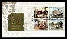 DR WHO 1992 CHRISTOPHER COLUMBUS 500TH ANNIVERSARY BLOCK FDC MILCOPEX C212727