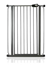 Safetots Child and Pet Barrier Pressure Fit Tall Slate Grey Stair Gate 75-83cm