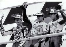 Kevin DAVANTI LUCKY STRIKE SUZUKI GERMAN GRAND PRIX 1992 firmato Fotografia