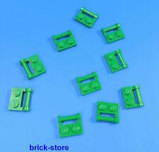 LEGO 1x2 Piastra Verde verticale orizzontale con manico / 10-pc
