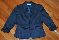 "TAHARI Arthur S Levine Women Blazer Jacket Belt Navy ""The Winnie"" SZ 12 NWT $280"
