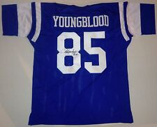 JACK YOUNGBLOOD - HAND SIGNED FOOTBALL JERSEY AUTHENTIC AUTOGRAPH w/ JSA COA
