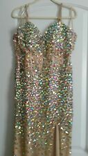 size 16 iridescent beaded gown