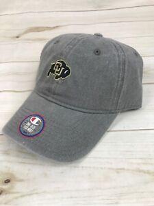 Colorado Buffaloes Buffs CU Gray Denim Baseball Hat Cap Champion New