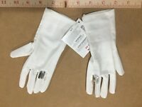 New Gymboree Girls Dressed Up Dressy White Gloves Size 5-7 with ring jewel
