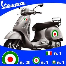 Set Vespa Italy Flag 5 Stickers Stickers