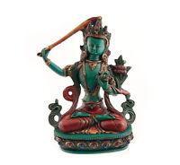 Estatua Tibetano de Manjushree De Resina Buda 20 CM 4949