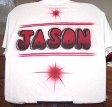"Airbrushed T-shirt ""JASON"" NAME S M L XL 2X 3X 4X 5X 6X"
