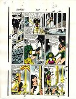 1989 Avengers 309 page 22 original Marvel Comics color guide art: She-Hulk/Sersi