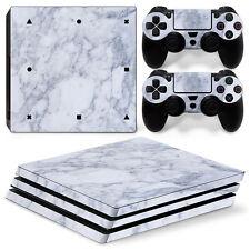 SONY PS4 PlayStation 4 Pro Skin Adesivo Pellicola Protettiva Set - Marble Motif