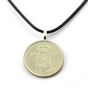 Collier pièce de monnaie Danemark 1 krone - Margrethe II