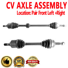PAIR FRONT LEFT AND RIGHT CV DRIVE AXLE SHAFT ASSEMBLY For N SENTRA 00-06