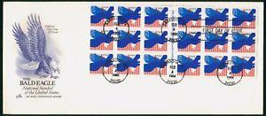 MayfairStamps US FDC Sealed 1994 Bald Eagle Self-Adhesive Block 18 Art Craft Fir