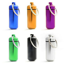 (Lot of 12) Colorful Travel Medicine Pill Bottle Key Rings 17mm