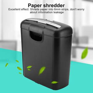 Heavy Duty Paper Shredder Strip Cut Document Credit Card Shredding Home Office