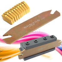 SPB26-3 26mm Parting Grooving Cut-Off Tool Holder w/ 10pcs GTN-3 SP300