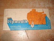 1971 PLYMOUTH SATELLITE OWNERS MANUAL GLOVE BOX BOOK ORIGINAL ROAD RUNNER