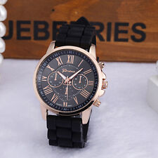 Fashion Nilicone Jelly Gel Ntainless Men Women Nteel Nnalog Nuartz Wrist Watch