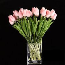 10pcs Tulip Flower Latex for Wedding Bouquet Decor (pink tulip) CT