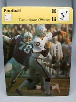 1978 SPORTSCASTER NFL CARD #36-20 KEN STABLER TWO MINUTE OFFENSE MINT CONDITION