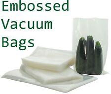 Pack de 25 en relief Food scelleuse sous vide sacs d'emballage Sac 15 x 25 cm