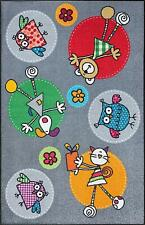 Wash+Dry Kinder Fußmatte Kinderzimmer Fulanitos Grau Bunt 115 x 175 cm