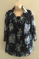 Women's Casual Floral Cotton Blend Tops & Blouses
